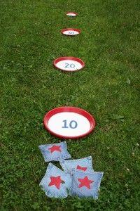 Beanbag shotput. (good indoor or outdoor game with kids)