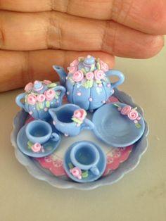 Teapots miniatures Set teapots miniatures Ivani Grande - Miniaturas Brasieliras- Brazilian Miniatures