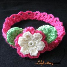 PATTERN in PDF Crocheted flower headband in All Sizes (Newborn baby to Lady size) -- Headband 24 on Etsy, $4.99