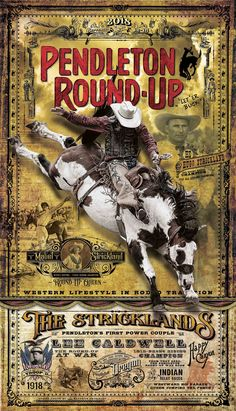 Not Exactly About Rodeo But Is Has Cowboys And A Horse And Decorative Typography Found At Letterhead Fonts Design Gallery Rodeo Posters In