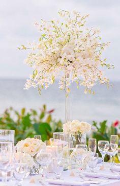 Featured Photographer: A Day of Bliss; Wedding reception centerpiece idea.