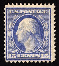 #340 15c Pale Ultramarine 1909 Fresh *MNH* CV $150+