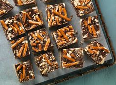 Chocolate Peanut Butter Pretzel Cookie Bars - Perfect for lovers of sweet and salty.