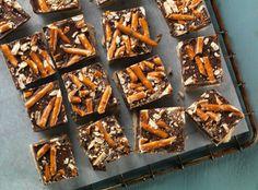 Chocolate Peanut Butter Pretzel Cookie Bars