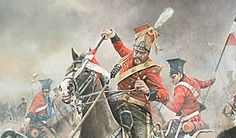 The Charge of the Red Lancers on Mercers Troop of Royal Horse Artillery - Waterloo 1815
