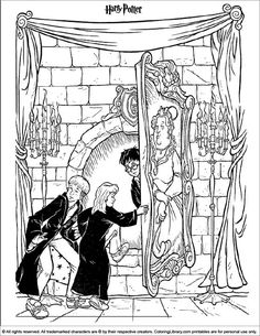 harry potter coloring page coloring sheetsadult coloringcoloring bookfree - Coloring Book Printables