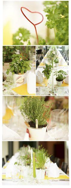 Wedding Decoration natural herbs and green