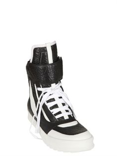 CAMILLA SKOVGAARD  20MM TWO TONE PRINTED LEATHER SNEAKERS