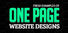 One Page Website Designs – 30 Fresh Examples