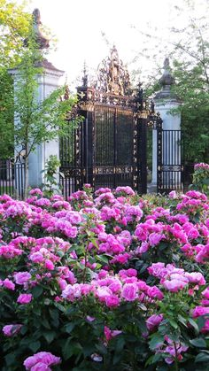 Gates to Queen Mary's Rose Garden in London's Regent Park
