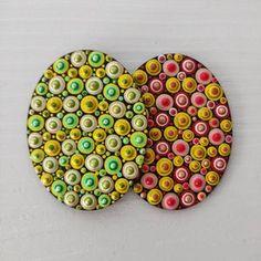 4 Easter Art on Wood Dotart Egg Dotilism Egg Easter | Etsy Easter Art, Easter Eggs, Handmade Items, Etsy Handmade, Handmade Gifts, Using Acrylic Paint, Nature Paintings, Hand Painted, Painted Rocks