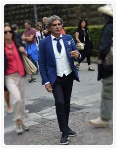 On the street Pitti Uomo Florence with Mr. Luigi Lardini www.maurodelsignore.com