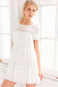 Alice & UO Eleonora Crochet Inset Dress - Urban Outfitters