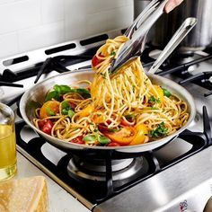 "This looks amazing!  #Cookware #AllClad #Skillets ""One-pan pasta will always be a Monday night staple. Adding fresh basil is one of our favorite easy upgrades; what twist do you put on this simple dish? #allclad : @nathanrcarrabba"" by @allclad"