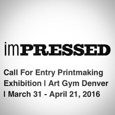 """SUBMISSION DEADLINE: 30 minutes! (give or take)  Submissions have been coming in from #seatoshiningsea.  Art Gym Denver is inviting printmakers in the USA to submit their art to a call for entry for the exhibit Impressed."""" Juried by Art Gym Printmaking Director Gregory Santos (@nycgps)  The exhibition running from March 31 - April 21 is part of the Month of Printmaking (@moprintcolorado) in Denver Colorado.  Submission deadline: Feb 27  Link to call for entry in bio!  #printmaking…"""