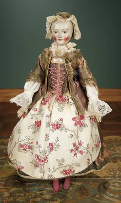 """""""For the Love of the Ladies"""" - October 1-2, 2016 in Phoenix, AZ: 184 Superb 18th Century Wooden Doll with Original Fine Costume"""