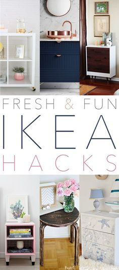 Ok friends…it is time for a collection of some Fresh and Fun IKEA Hacks. In this group you will find some fun Hacks that easy to do and all have a more contemporary look. You will find 2 different spectacular bar carts …a concrete top table and some awesome RAST Hack await you! Come and …