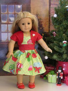 Cupcake dress with waistband and shrug.