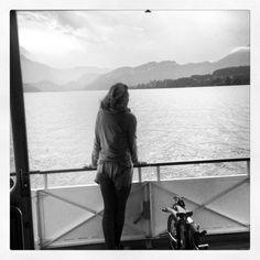 Taking a ferry crossing in Switzerland