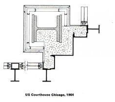 Soluciones de la esquina de las torres de Mies Van Der Rohe (John Winter, 1972)