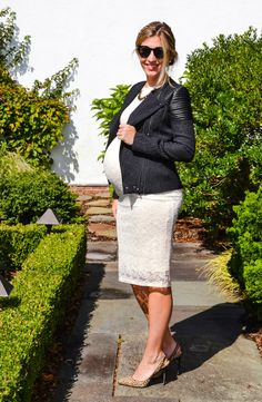 Sparkling Footsteps: maternity - this outfit with my shortened wedding dress
