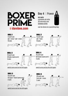 Push-ups into boxing combinations. Boxer Prime: Fitness Program Push-ups into boxing combinations. Ufc Training, Boxing Training Workout, Home Boxing Workout, Fighter Workout, Kickboxing Workout, Mental Training, Strength Training, Boxing Boxing, Boxing Workout With Bag