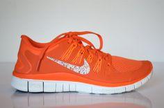 Swarovski Crystal Orange Nike Free Run 5.0 by TwistedRoyalty, $175.00   NEEEEEEEEEEEEED