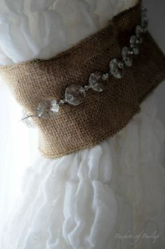 Bedroom Reveal~ DIY burlap curtain tie back idea