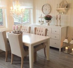 Neutral dining area
