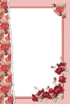 Transparent Flower Red Frame