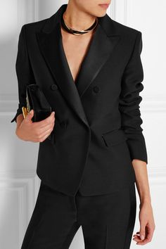 Tom Ford | Satin-trimmed wool and silk-blend tuxedo jacket | NET-A-PORTER.COM