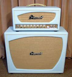 Class A 25 Watt and octal tube guitar amplifier with custom options. Field Coil speaker and Magic Eye. Marshall Guitar, Music Down, Bass Amps, Pedalboard, Vintage Guitars, Cool Guitar, Playing Guitar, Music Stuff, So Little Time