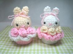 Амигуруми: Пирожное-зайчик. Бесплатная схема для вязания игрушки. FREE amigurumi pattern. #амигуруми #amigurumi #схема #pattern #вязание #crochet