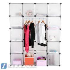 Fresh Kleiderschrank Regalsystem Standregal Garderobe Kunststoff Schuhschrank LPCW
