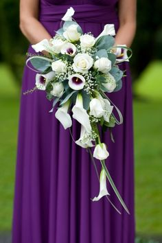 Beautiful purple bridesmaid dress
