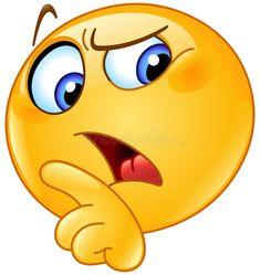 Thinking Emoji stock photos and royalty-free images, vectors and illustrations Angel Emoticon, Emoticon Faces, Funny Emoji Faces, Hug Emoticon, Funny Emoticons, Silly Faces, Smiley Emoji, Emoji Set, Images Emoji