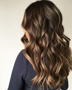 Gorgeous hair color with highlights - brown hair with highlights ,balayage hair , balayage highlights #haircolor #brownhair #balayage