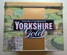 Yorkshire Gold Tea Metal Caddy  Storage Tin - Container - Taylors of Harrogate