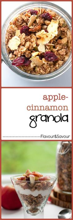 How to Make Apple Cinnamon Granola. Make your home smell heavenly with this Apple Cinnamon Granola or follow this easy guide to create your own flavour combinations. Can be made gluten-free too.