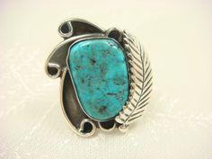 ♥♥♥Turquoise Ring / Navajo Ring / Turquoise by ShinePrettyGems, $59.00