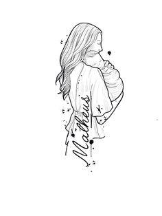Homenagem tanto mãe e filho Mom Dad Tattoo Designs, Mom Dad Tattoos, Tattoo For Son, Mother Tattoos, Baby Tattoos, Mini Tattoos, Small Tattoos, Tattoo Sketches, Tattoo Drawings
