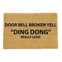funny doormat Indoor Door Mats, Housewarming Present, Funny Doormats, Ding Dong, Welcome Mats, New Home Gifts, Garden Gifts, Retail Therapy, Porch Decorating