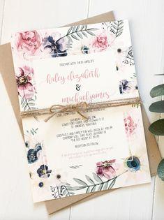 Bohemian Garden wedding invitation from Love of Creating Design