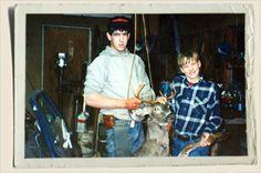 Jeremy & Ryan getting ready to skin a buck. #AuntHeather