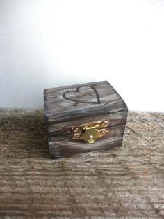 Burlap Rustic Ring Bearer Pillow Box  Square  by ThePaperWalrus, $19.99