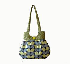 Classy Curvy Yellow and Gray Sweet Pea Tote Purse Handbag Summer Everyday Bag Holiday Christmas Gift. $35.00, via Etsy.