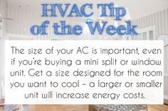 Size matters, especially when we're talking about air conditioners. #HVAC…