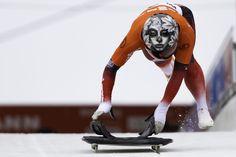 La verdadera esencia de Sarah Reid sustituye su rostro en una de las últimas pruebas para los Juegos Olímpicos de Sochi. Fotografía de Markus Hülsbusch