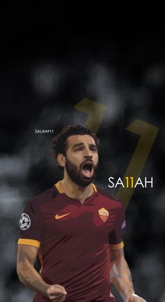Mohamed Salah - Roma Football - Soccer Creative Art - wallpaper