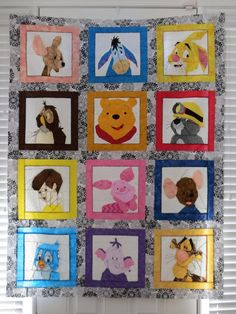 Paper-pieced Winnie the Pooh charachters. Wish I had seen this while it was going on, but I will have to print & save these block patterns for sure. I LOVED this cartoon when I was young.